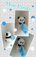 PANDA DOHO INTERNATIONAL DOUDOU PANDA BLEU